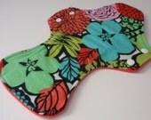 """Reusable Cloth Pad 13"""" Tortola Florals"""