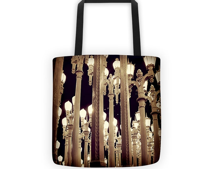 Urban Light at Night Tote for Eco Shopping and School and Sundry