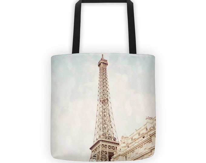 Eiffel Tower Paris Tote for Eco Shopping and School and Sundry