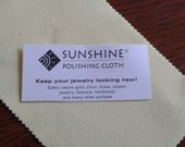 SUNSHINE CLOTH jewelry polishing cloth - add on item only