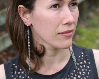 Chainmail Stainless Steel dangle earrings