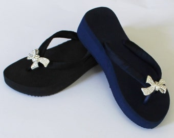 Flip Flop Summer Sale-Free Shipping-Womens Flip Flops-Wedge Flip Flops-Flip Flop Bow-Flip Flop Sale
