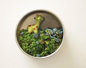 Magnet Miniature Moss Terrarium Giraffe