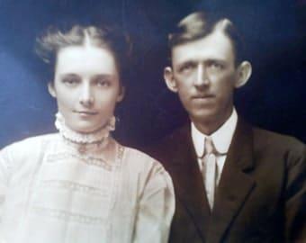 Edwardian/Victorian couple photograph