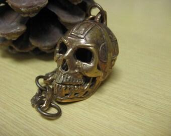 Bronze Robot Skull Motorcycle Spirit Bell