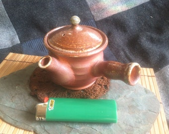Wood Fired 125ml Kyusu Teapot
