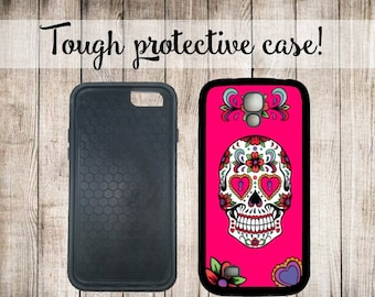 Sugar Skull Pink Phone Case iPhone 4 5/5s iPhone 6 Samsung Galaxy s3 s4 s5 s6