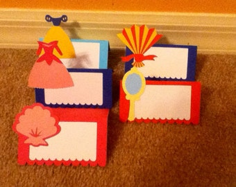 Cute Princess Placecards Set of 10