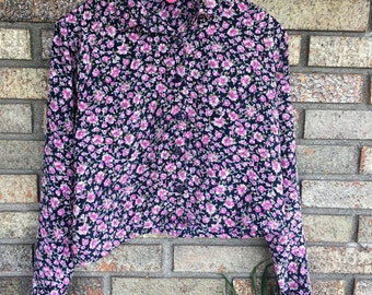 Vintage Flower Cropped Shirt