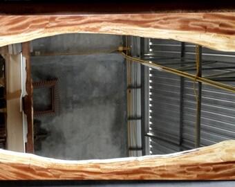 Live Edge Mirror Acacia Wood