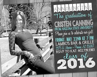High school graduation invitations 2016 gangcraft graduation invitation high school graduation graduation party etsy quinceanera invitations filmwisefo Gallery