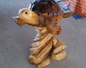 Chainsaw Carving Chainsaw Carved Sea Turtle