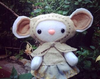 Little babushka mouse  - woodland plush stuffed animal