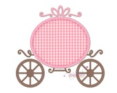Princess Carriage 152 - machine embroidery design, applique embroidery design for girls, applique princess, for birthday