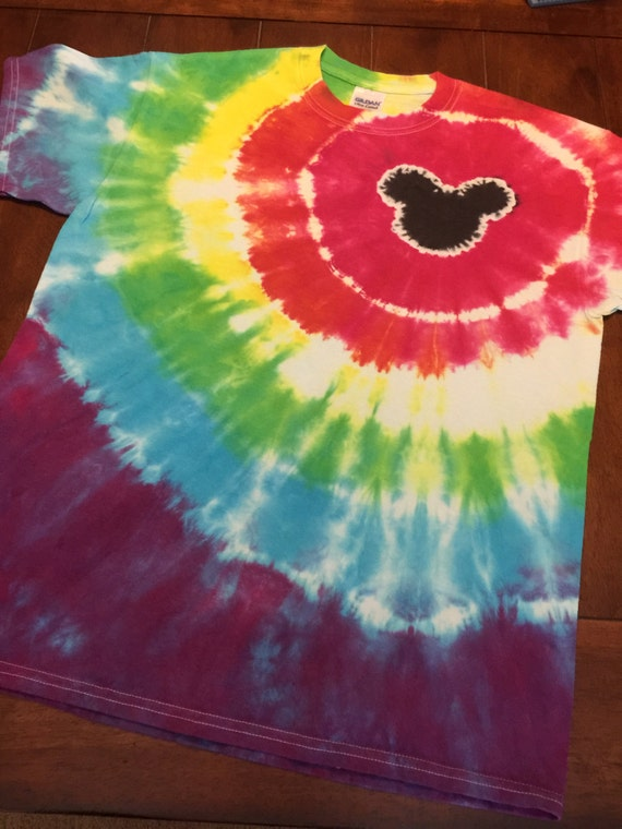 Custom tie dye mouse shirt bullseye design by for Customized tie dye shirts