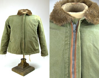 1940s RARE WWII Prototype Sample Military Deck Jacket