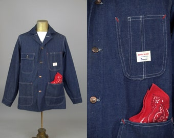 1950s Barn Coat DEADSTOCK JC Penneys Big Mac Indigo Denim Chore Jacket