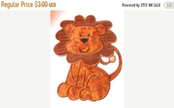 50% OFF SALE Baby Lion Applique Machine Embroidery Design