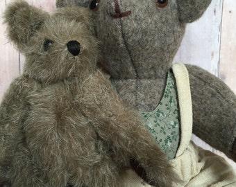 Two Vintage Jointed Teddy Bears Handmade