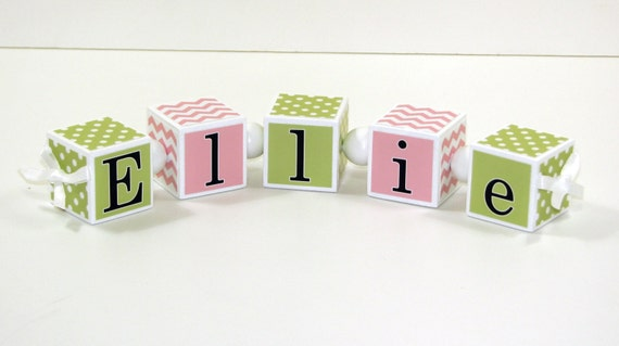 Baby Gift Name Blocks : Baby name blocks shower gift nursery by