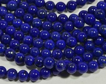 "Lapis Lazuli 4mm 8"" inch Strand Royal Blue Natural Lapis Lazuli Jewelry Making Supplies"