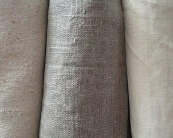 ORGANIC: hand or bath towel _ unbleached linen, vegan ramia, organic cotton, rough wild silk or soft hemp