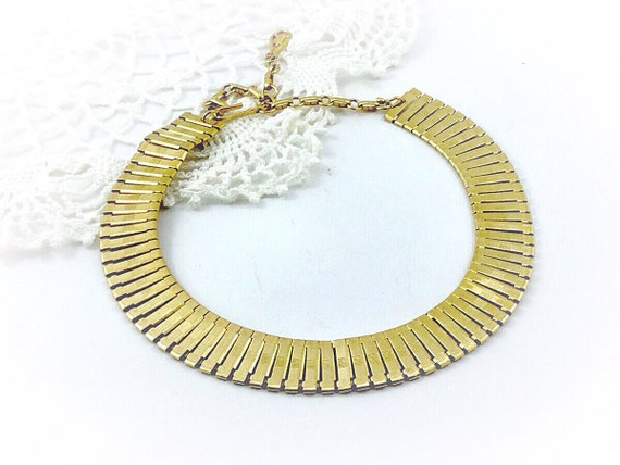 Fabulous Vintage Coro Necklace. Signed 1960s Chain Necklace, Vintage Signed Coro Gold tone necklace. Book chain style necklace. Coro Jewelry