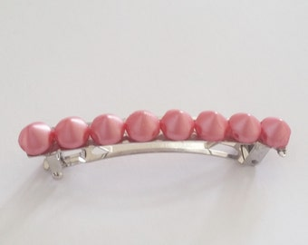 Candy Pink Spikes French Barrette, for weddings, parties, and special occasions
