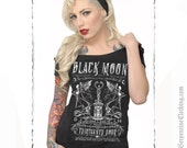 Black Moon Women's Off shoulder Tee