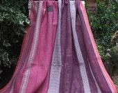 SALE PRICE Pink and Purple Kantha ,Sari throw, Sari Blanket, Kantha Blanket,  Kantha Throw, Indian Quilt, Coverlet, Ralli Quilt,Kantha