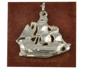 Vintage Sterling Silver Danecraft Charm - Spanish Galleon - MOC - Charm for Bracelet, Sailing Ship Charm in 925 Silver