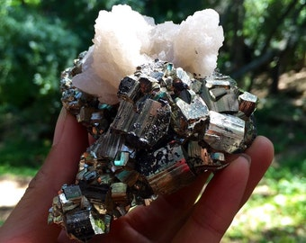 REDUCED!! Pyrite Cube Cluster with Crystal Growth (RARE)