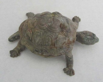 Vintage 60's Germany Celluloid Plastic Turtle Bobble Head Nodder Head and Tail