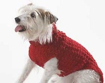 PDF Crochet Pattern for a Cute Style Dog Sweater/Jacket  - Instant Download
