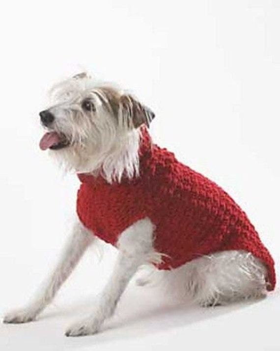 Pdf Crochet Pattern For A Cute Style Dog Sweater Jacket