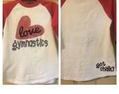 Youth love gymnastics raglan