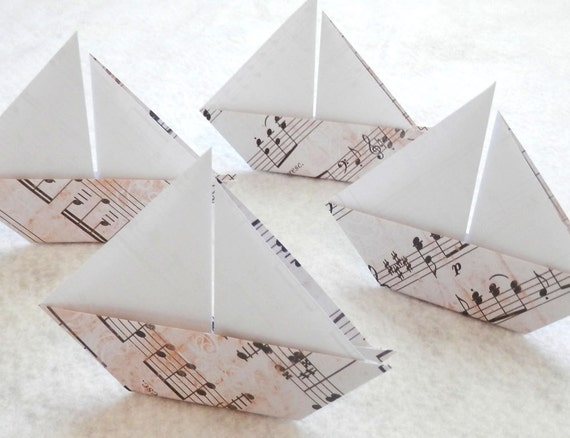 origami sail boats 50 origami music note paper sail boats
