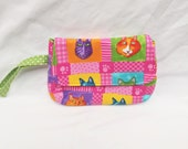 Cat, Wristlet, Kitty, Cats, Clutch, Purse, Pouch, Handbag, Coin Purse, Cosmetic Bag, Bag, Phone Wallet, Phone