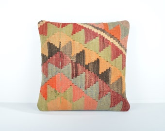 Kilim pillow cover, kp1641, Kilim Pillow, Turkish Pillow, Kilim Cushions, Kilim, Moroccan Pillow, Bohemian Pillow, Turkish Kilim