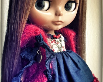 Blythe  Ooak Set FOREST BERRIES By Odd Princess Atelier, Victorian Outfit, Special Dress, Autumn-Winter Collection