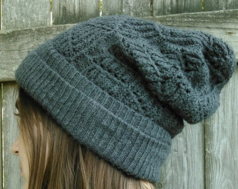 Grey Beanie and Armwamer Set