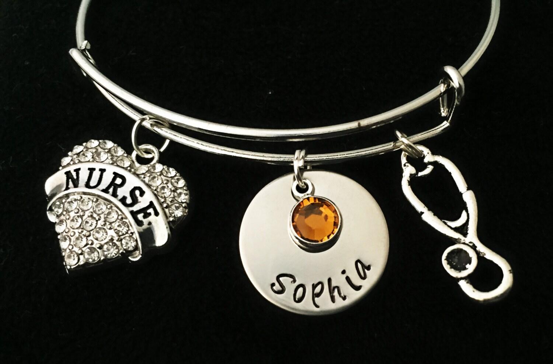 nurse rn braceletnurse personalized charm bracelet nurse. Black Bedroom Furniture Sets. Home Design Ideas