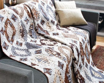Neutral Chic Quilt pattern  76 1/2'' x 76 1/2''  only 2.99
