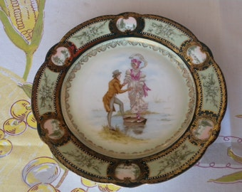 Vintage Cabinet Plate ~ Granny's Time ~ Made in Austria with Beehive Makers Mark // Home Decor // Collector Plate