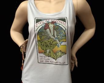 Tank Top- New Scarlet Begonias /Ladies Racerback Tank Tops/Womens Next Level brand /Mongo Arts Mucha/ GD inspired tank lot tee