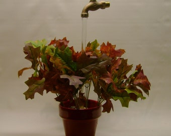 Autumn Leaves Water Fountain with Illusion