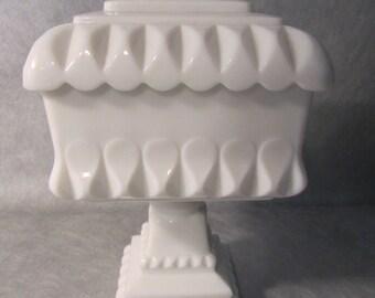 Vintage Milk Glass Candy Jar