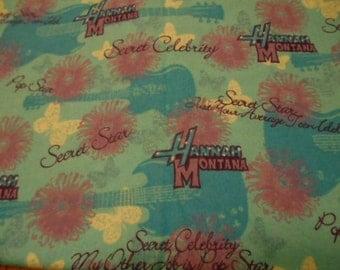 Hannah Montana, flannel fabric