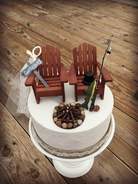 rustic wedding cake toppers rustic fishing wedding cake toppers wedding cake topper 7207