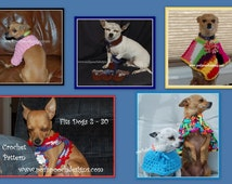 E Book - Crochet Patterns For Small Dogs Instant Download Crochet E Book